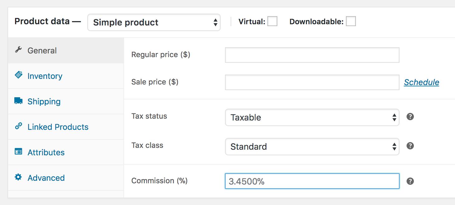 WooCommerce Affiliates - Screenshot