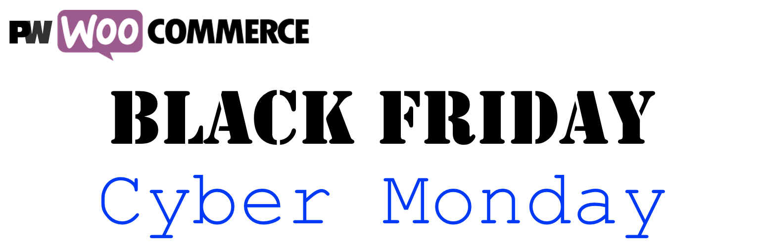 WooCommerce Black Friday Cyber Monday Logo