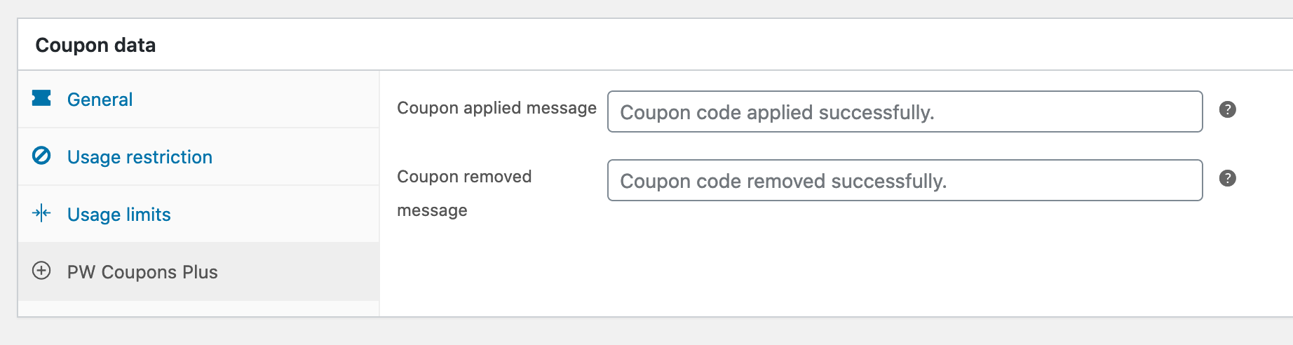 WooCommerce Coupons Plus - Screenshot